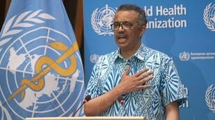 "The WHO's chief Tedros Adhanom Ghebreyesus said that on May 19, 2020 (pictured), there were ""106,000 cases reported to WHO -- the most in a single day since the outbreak began"""