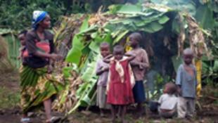 Enfants déplacés au Nord-Kivu depuis fin 2006 en RD Congo.