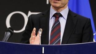 El secretario general de la OTAN, Anders Fogh Rasmussen.