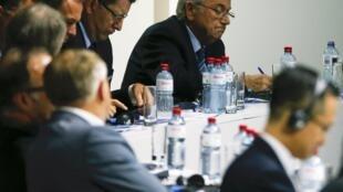 Joesph Blatter, lors du congrès de la Fifa, le 29 mai 2015 à Zurich, en Suisse.