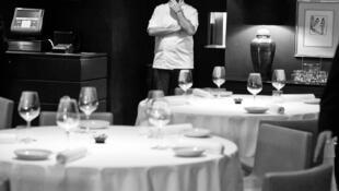 Enrique Olvera en su restaurante Pujol.