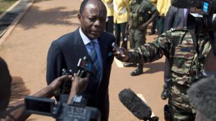 Le général Jean-Marie Michel Mokoko, le 19 décembre 2013 à Bangui.