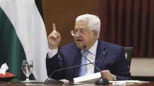 Le président de l'Autorité palestinienne, Mahmoud Abbas, à Ramallah le 19 mai 2020.