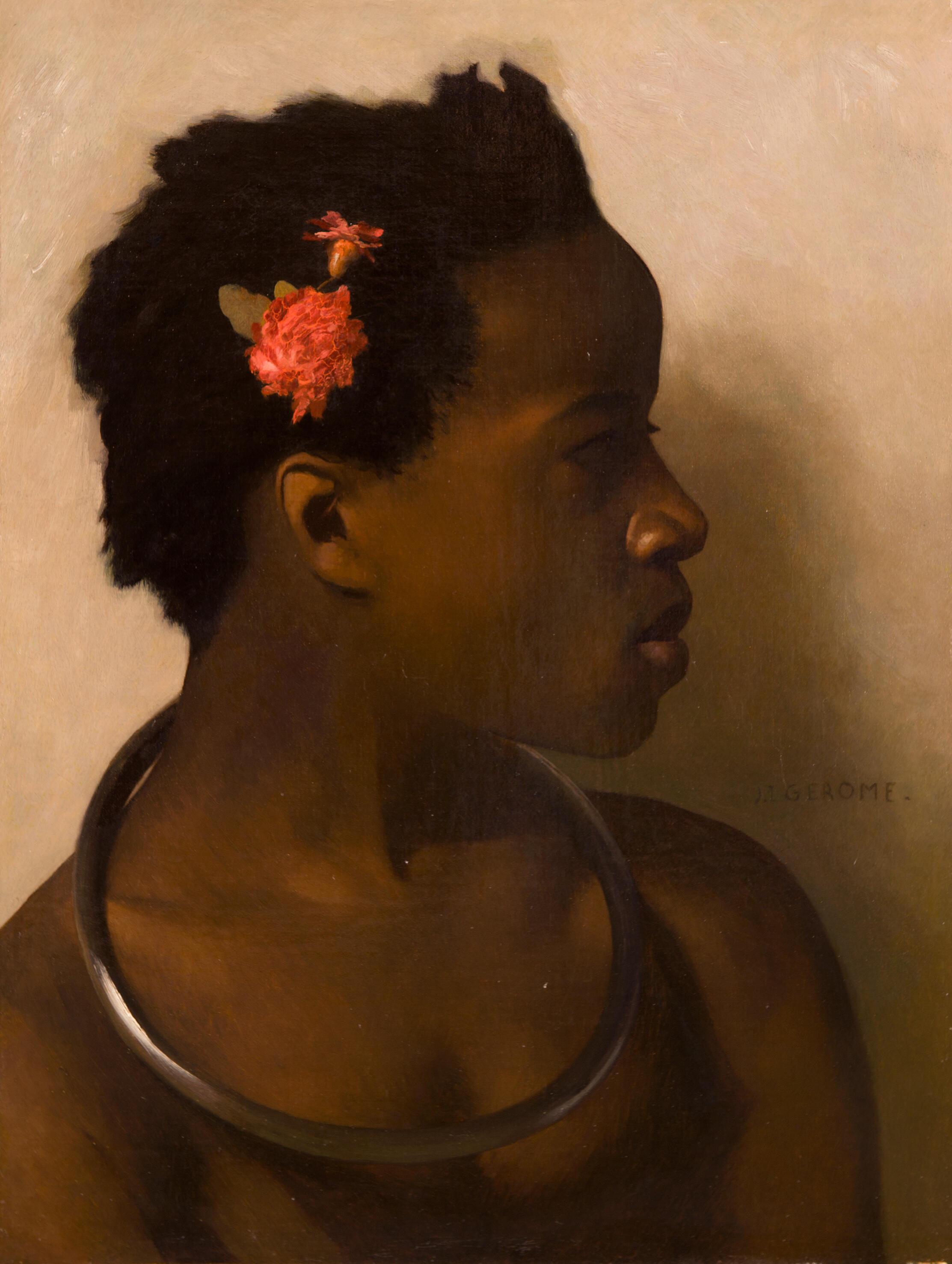 Jean-Léon Gérôme (1824-1904), Esbozo de un modelo femenino para el cuadro 'À vendre, esclaves au Caire. Colección privada.