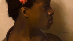 Jean-Léon Gérôme (1824-1904), Étude d'après un modèle féminin pour «À vendre, esclaves au Caire», vers 1872 Huile sur toile, 48 × 38 cm Collection particulière.