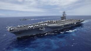 Le porte-avions américain USS Nimitz était déployé, le 1er septembre, dans les eaux de la Mer Rouge.