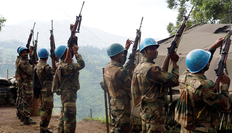 Baadhi ya wanajeshi wa kulinda amnai wa umoja wa mataifa MONUSCO nchini DRC