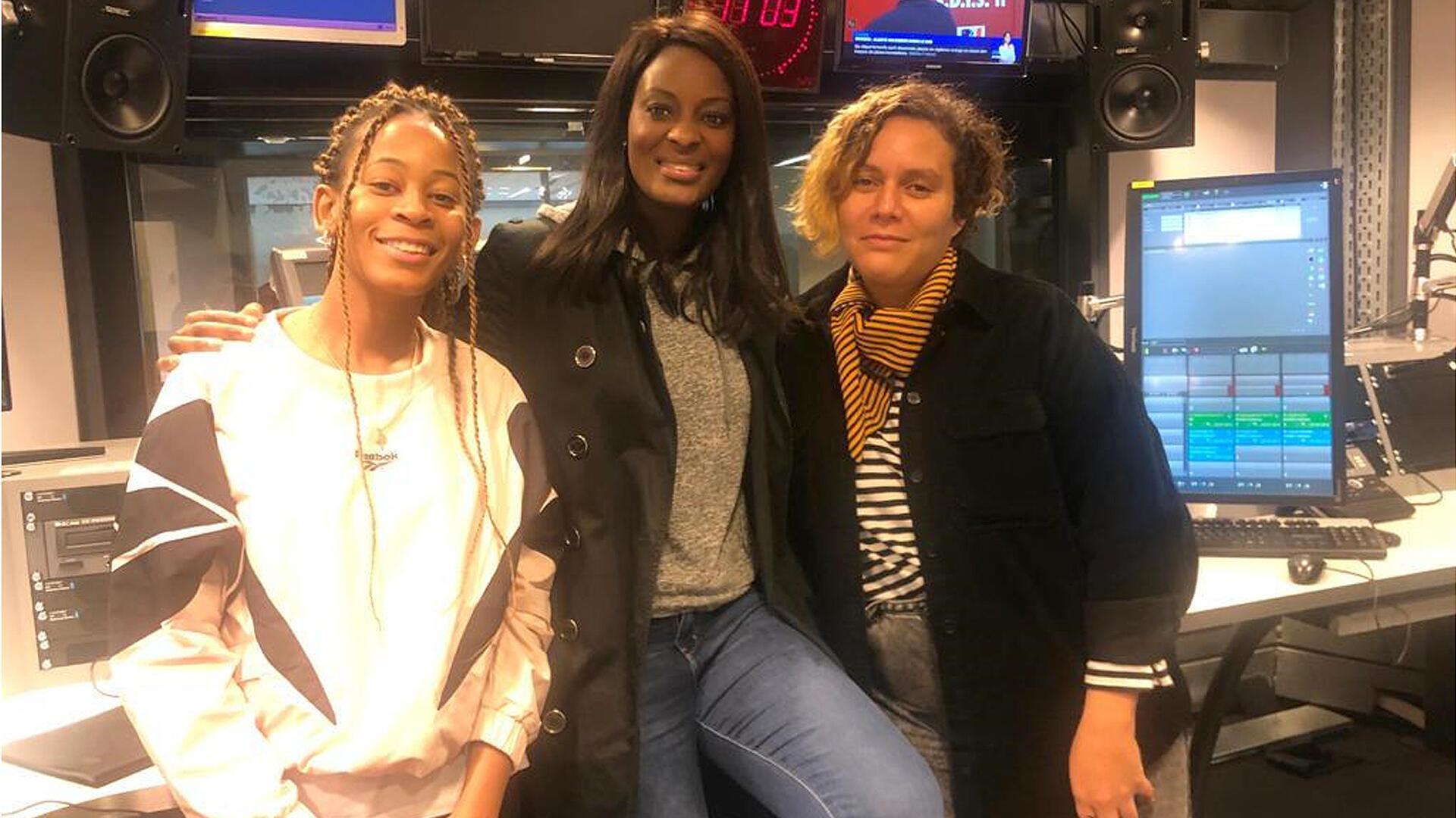 Vicky R, rappeuse ; Diara Ndiaye ; Narjes Bahhar, journaliste chez Mouv.