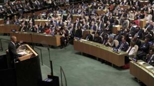 美国总统奥巴马以联合国所在地东道主身份列第二位联大发言
