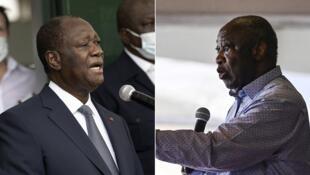 Ouattara et Gbagbo