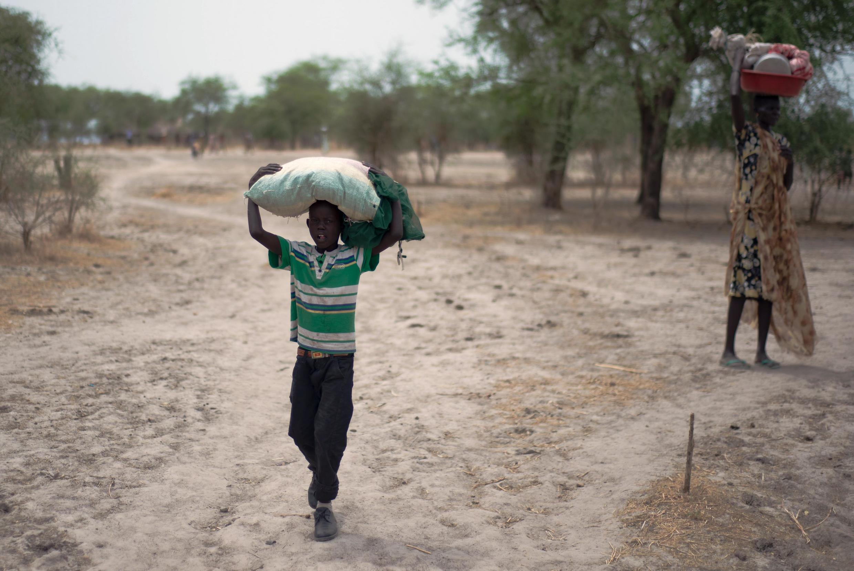 Déplacés sud-soudanais dans l'État du Jonglei en 2015 (image d'illustration).