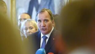 O primeiro-ministro sueco Stefan Lofven