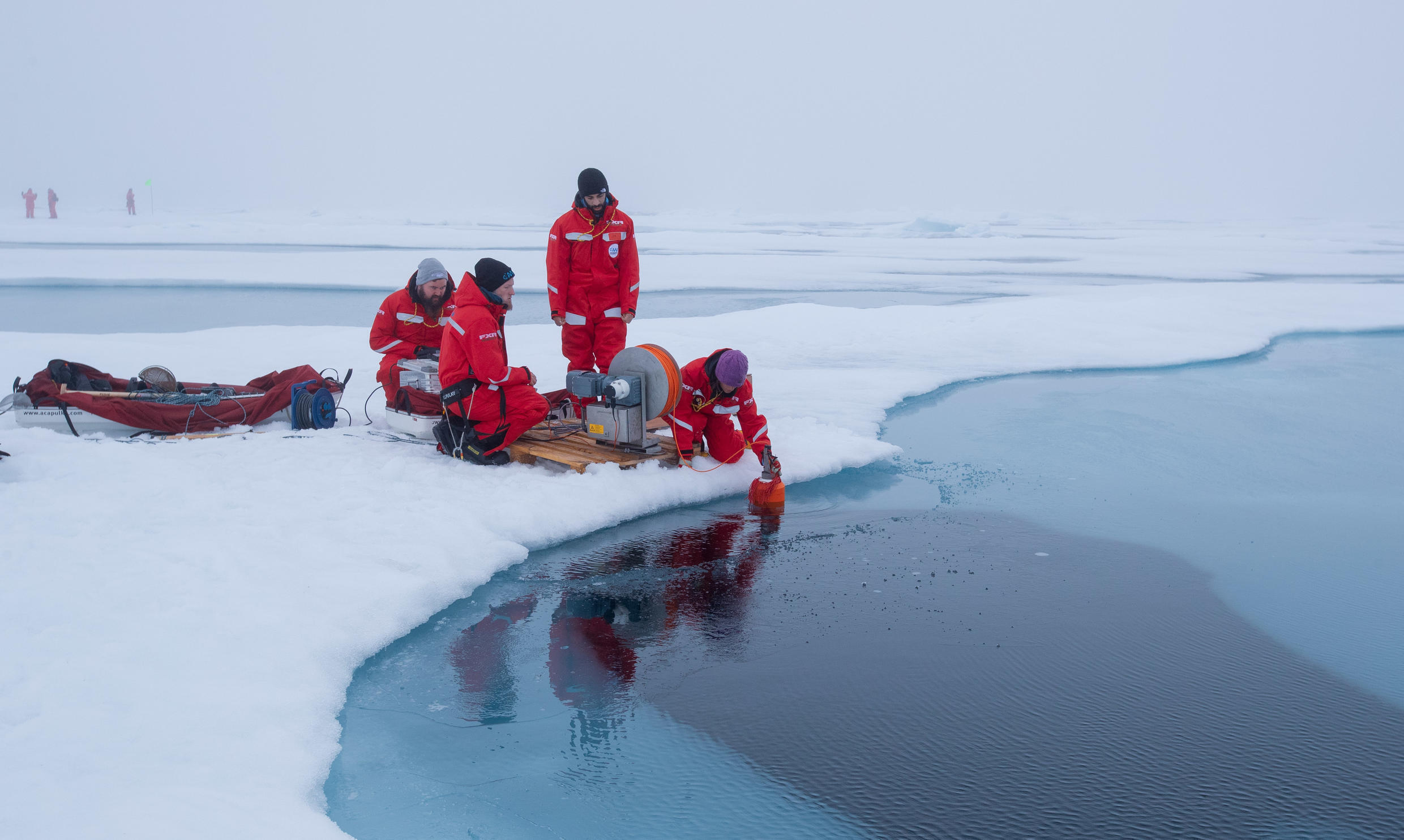 Scientists aboard the Polarstern took more than a thousand samples of Arctic ice, water and air.