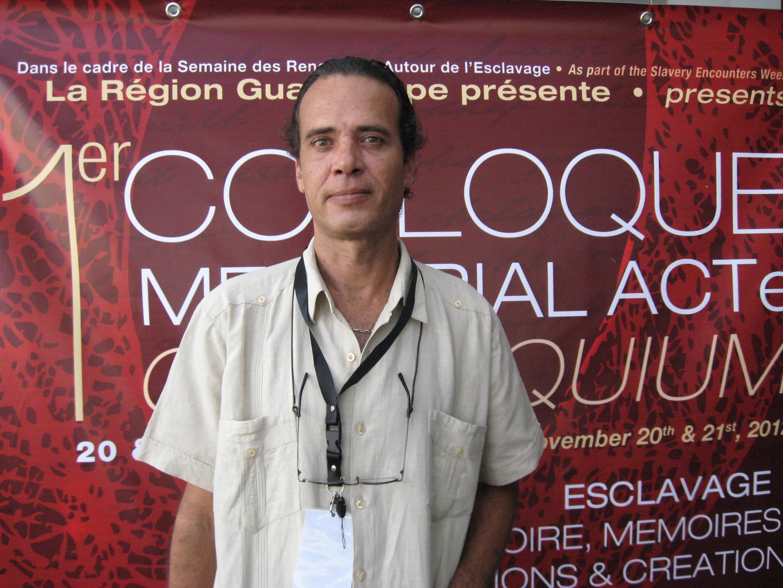 Thierry L'Etang, chefe do projeto cultural e cientifico do Memorial Acte que sera construido em Guadalupe.
