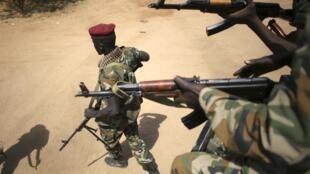 Soldados sul-sudaneses na capital Juba