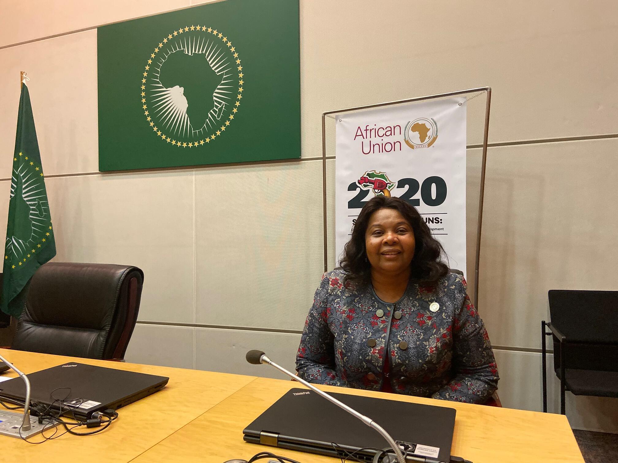 Elsa Pinto, chefe da delegação são-tomense no Conselho executivo da União Africana em Addis Abeba a 7 de Fevereiro de 2020.