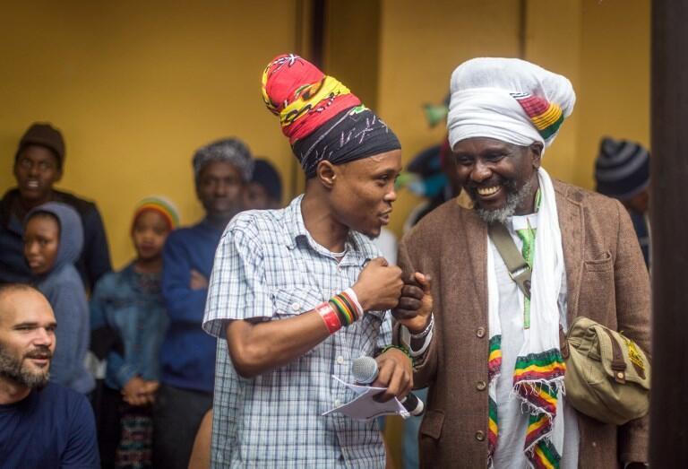 Ma rastafari katika tamasha la reggae huko Durban, Februari 2018.
