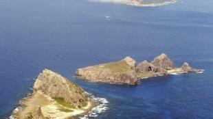 Vue générale des îles que se disputent la Chine et le Japon. Elles sont appelées îles Senkaku par les Japonais et îles Diaoyu par les Chinois.