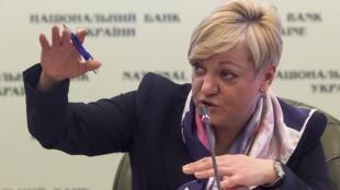Valeria Gontareva, la gouverneure de la Banque centrale ukrainienne à Kiev, le 30 décembre 2014.
