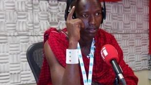 Msanii Masai Prince ndani ya Studio za RFI Kiswahili jijini Dar es Salaam Juni 29. 2016