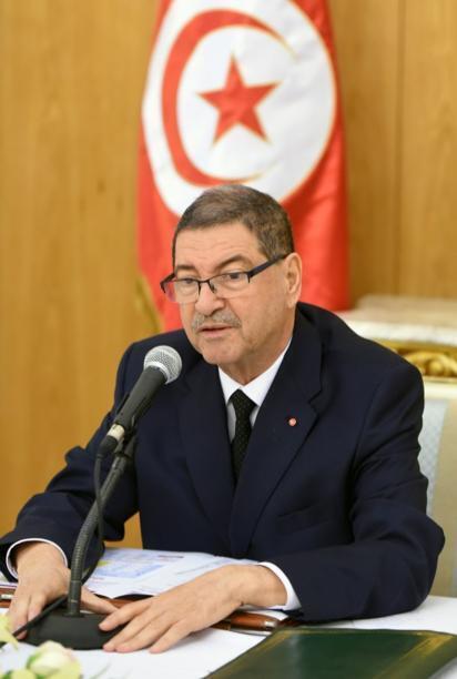 Waziri Mkuu wa Tunisia, Habib Essid, Machi 8, 2016.