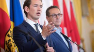 Le chancelier autrichien Sebastian Kurz, le 3 juillet 2018, à Vienne.
