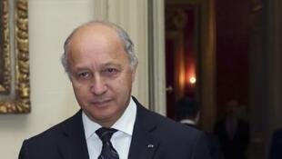 Глава МИД Франции Лоран Фабиус в министерстве иностранных дел в Париже 22/10/2013
