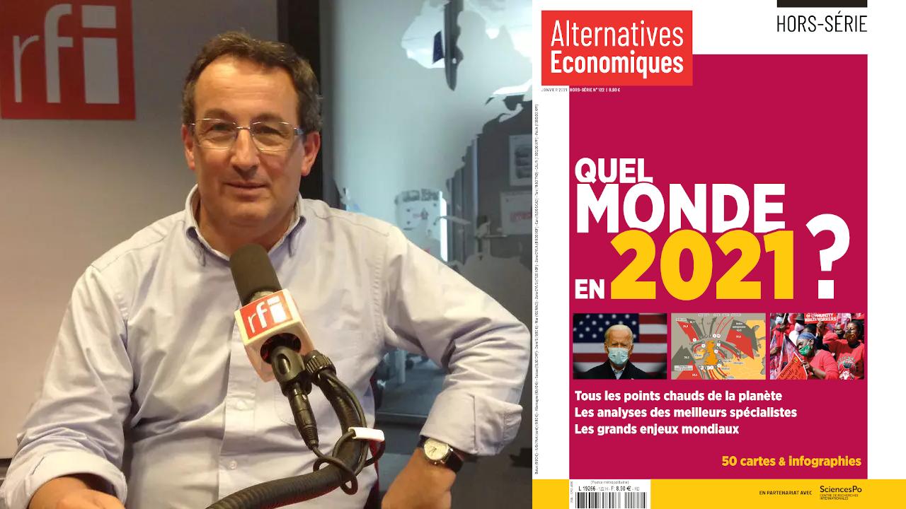 Montage RFI Yann Mens et couverture Alternatives économies HS 2021