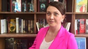 La romancière suédoise Camilla Läckberg à Paris (mai 2019).