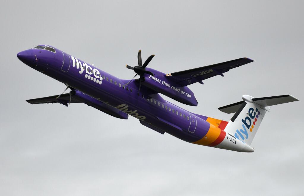 Un avion de la compagnie aérienne Flybe le 24 septembre 2019 à Düsseldorf. (Image d'illustration)