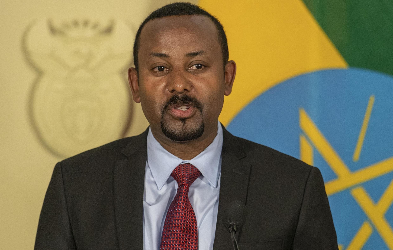 Waziri Mkuu wa Ethiopia Abiy Ahmed, Januari 12, 2020 huko Pretoria, Afrika Kusini.