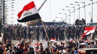 Jami'an tsaron Iraqi gaban masu zanga-zanga a kasar