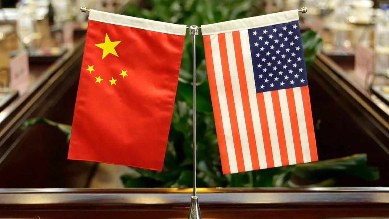 美中国旗标志
