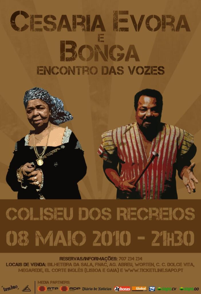 Bonga no Coliseu em Lisboa, a 8 de maio de 2010