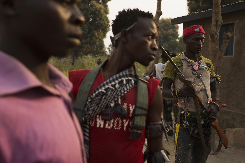 Des miliciens anti-balaka à Bangui, en janvier 2014.