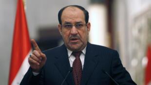 Waziri Mkuu wa Iraq  Nouri al-Maliki.
