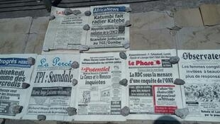 Newspapers on the streets of Kinshasa