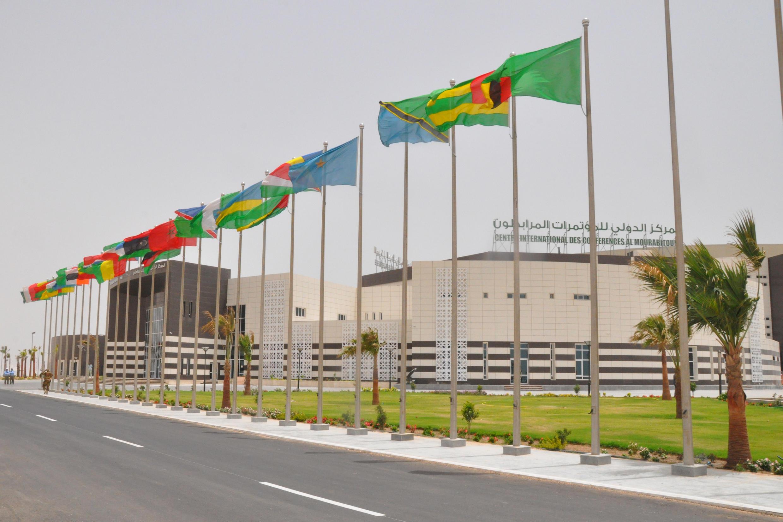 Centro de conferências de al-Mourabitoune em Nouakchott, onde decorreu a Cimeira da união Africana.