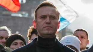Alexei Navalny, hapa ilikuwa Moscow, Februari 29, 2020.
