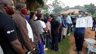 Wasu daga cikin masu zabe a Uganda
