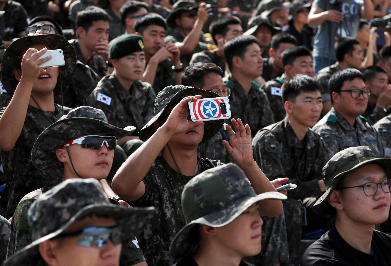 Des militaires sud-coréens à Pocheon, le 11 septembre 2018 (Photo d'illustration).