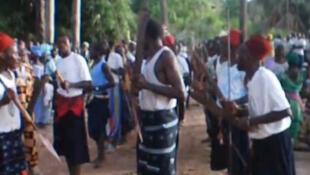 Funérailles traditionnelles d'un homme diola, juin 2010.