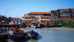 Porto de Pidjiguiti em Bissau.