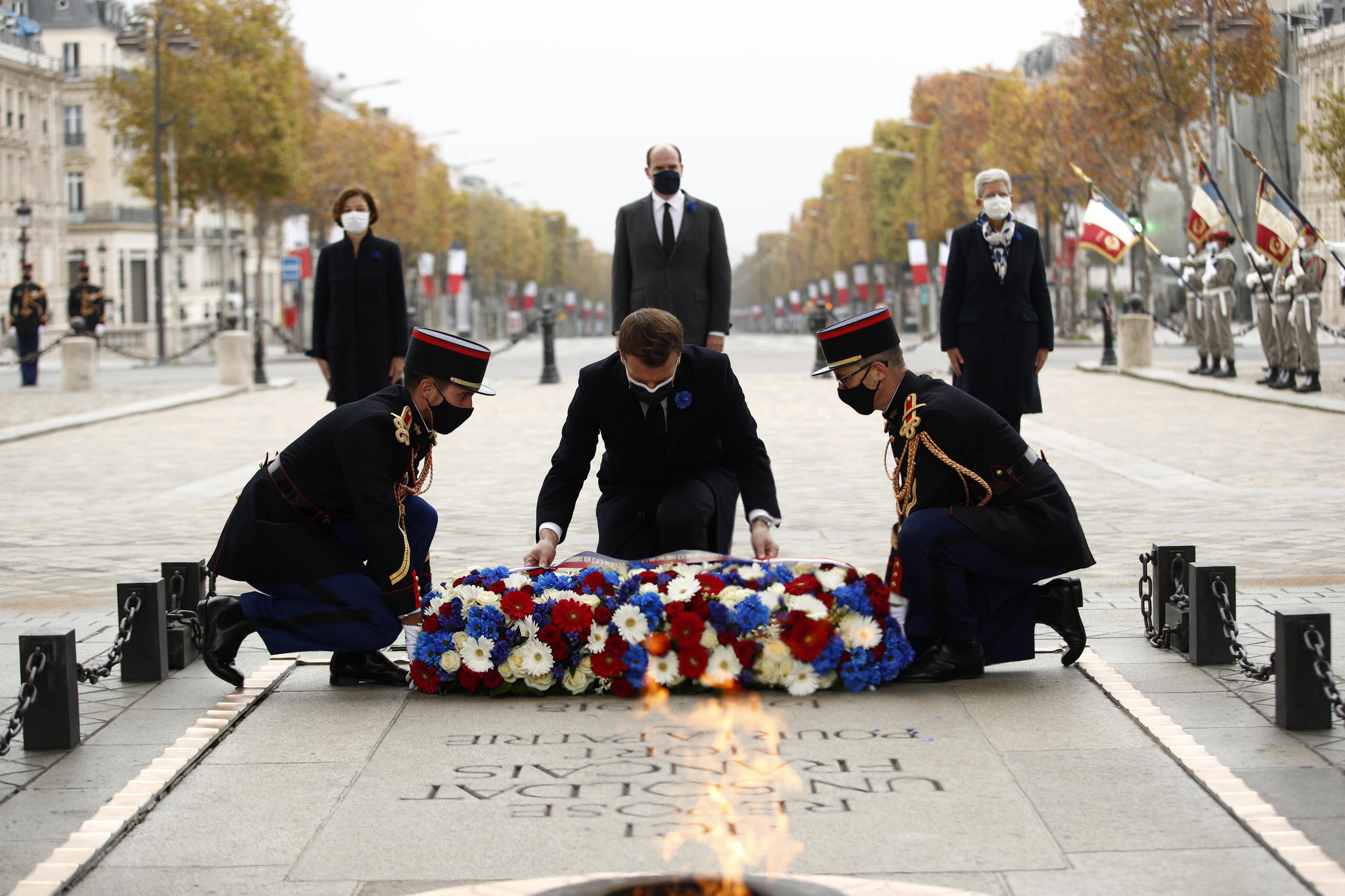 President Emmanuel Macron paid tribute to the fallen of France at a ceremony at which the names of19 soldiers killed in the line of duty over the last year were read out
