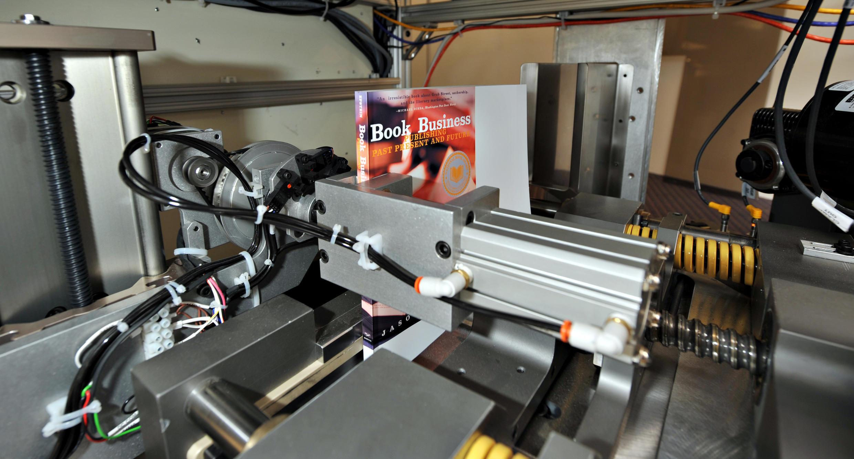 La Espresso Book Machine en acción.