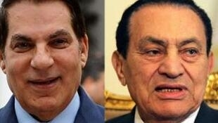 Os bens de Ben Ali (à esq.) e Hosni Moubarak estão na mira da justiça francesa.