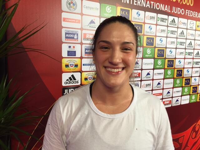 Mayra Aguiar,  medalha de ouro no Grand Slam Paris.