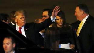 圖為美國總統特朗普2018年11月29日抵達布宜諾斯艾利斯參加20國峰會