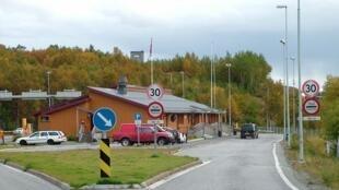 Storskog frontier post between Norway and Russia