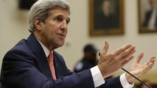 Ngoại trưởng Mỹ John Kerry chủ trì  Hội nghị liên minh chống tổ chức Nhà nước Hồi giáo tại Hội đồng Bảo an, ngày 19/09/2014.